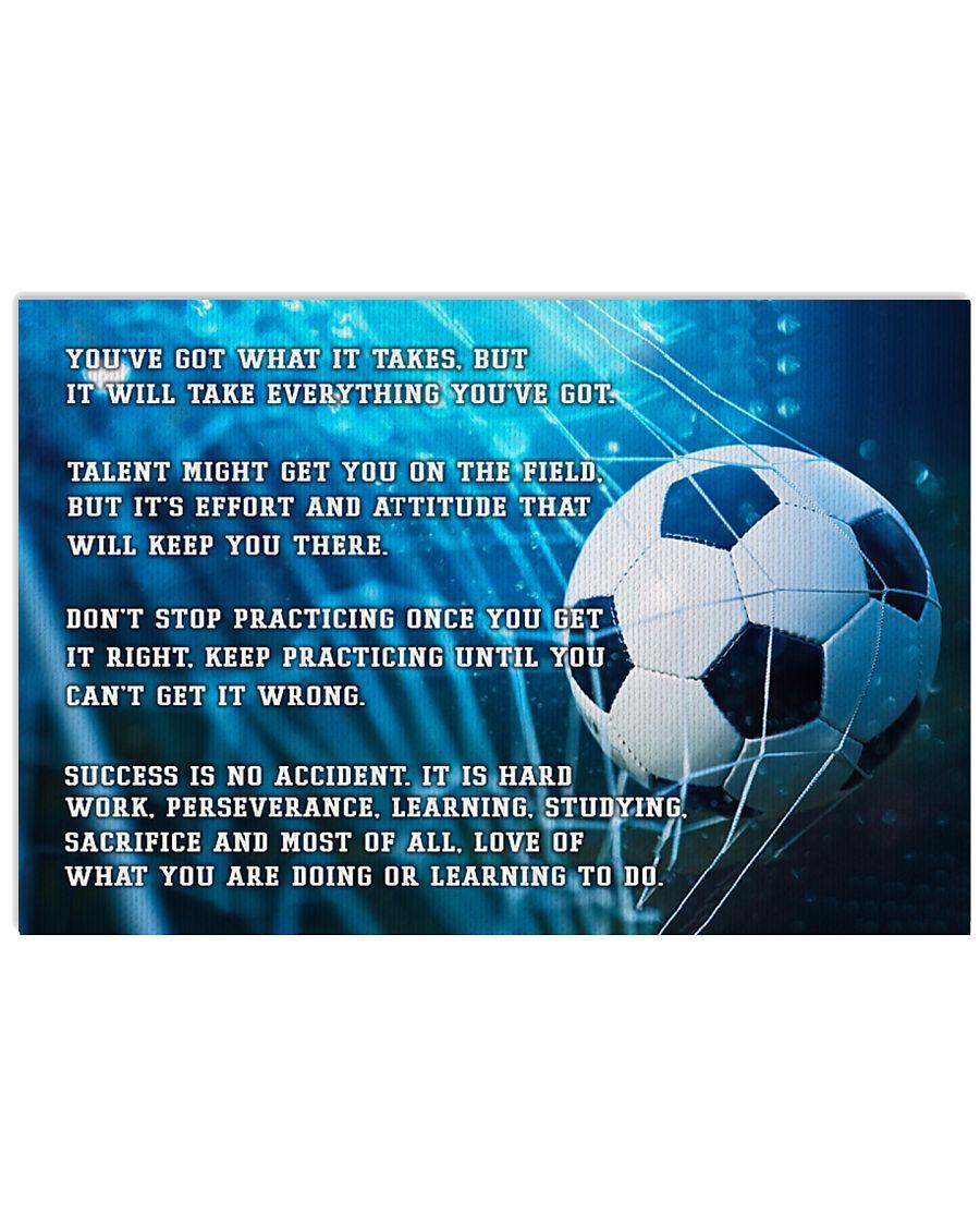 Motivational Soccer Nhg07 36x24 Poster