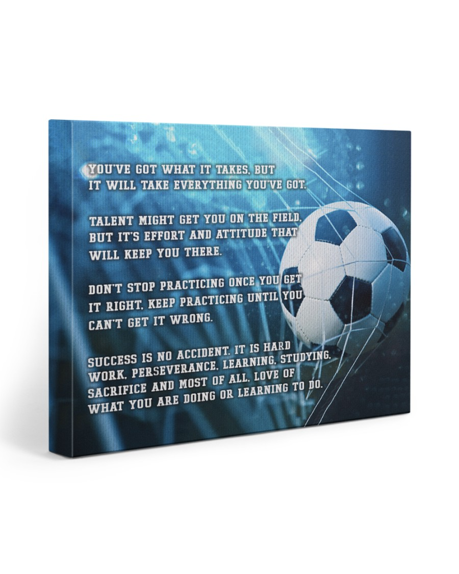 Motivational Soccer Nhg07 20x16 Gallery Wrapped Canvas Prints