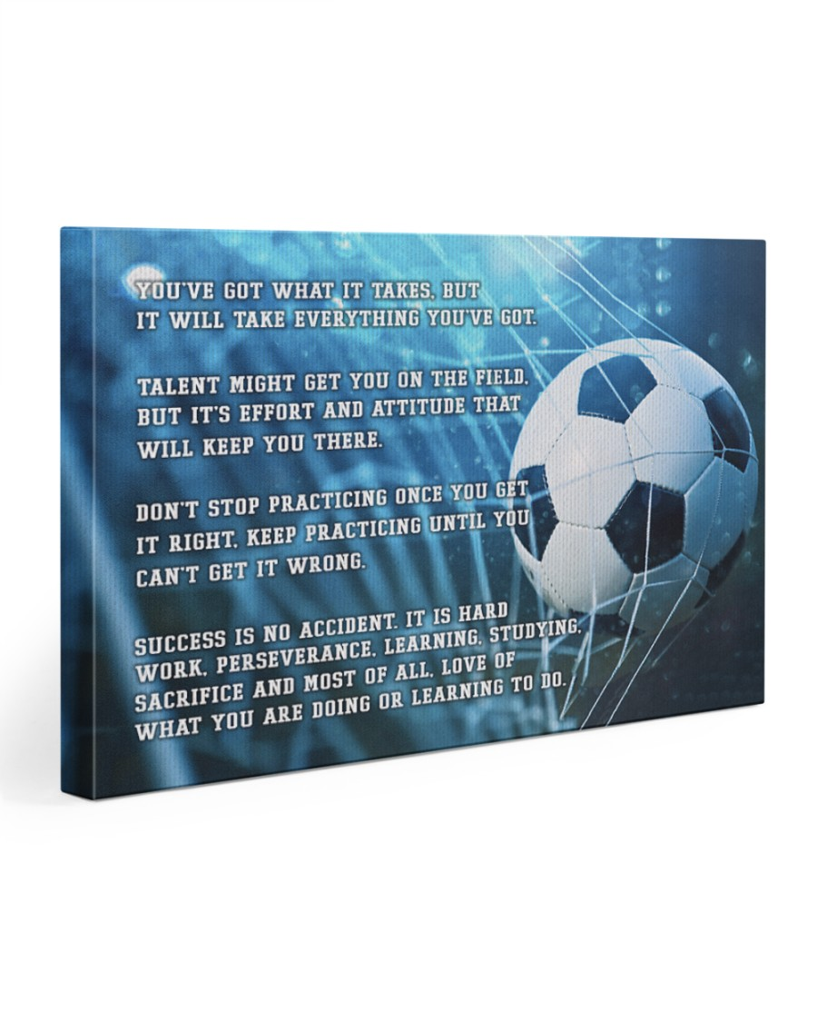 Motivational Soccer Nhg07 30x20 Gallery Wrapped Canvas Prints
