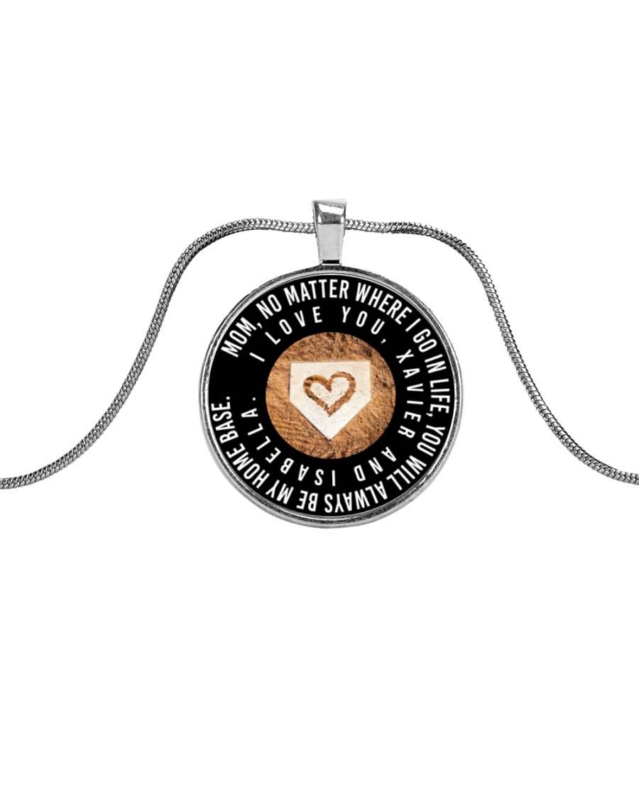 Customized Necklace - Xavier and Isabella Metallic Circle Necklace