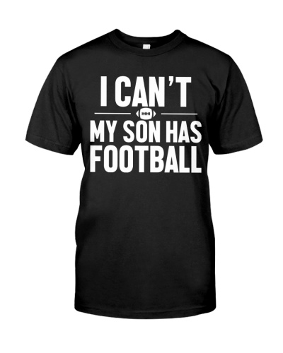 I can't my son has football ncl04