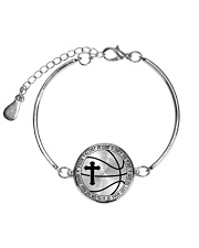 Your Talent Is God's Gift To You Basketball Nhg07 Metallic Circle Bracelet thumbnail