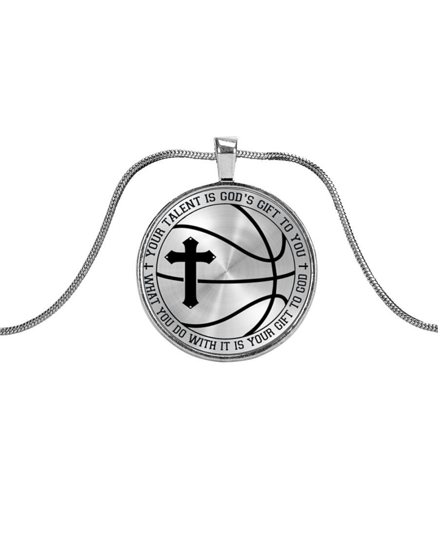 Your Talent Is God's Gift To You Basketball Nhg07 Metallic Circle Necklace