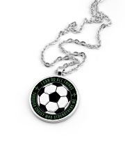 I Can Do All Things Soccer Nhg07 Metallic Circle Necklace aos-necklace-circle-metallic-lifestyle-05