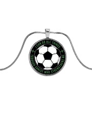 I Can Do All Things Soccer Nhg07 Metallic Circle Necklace front