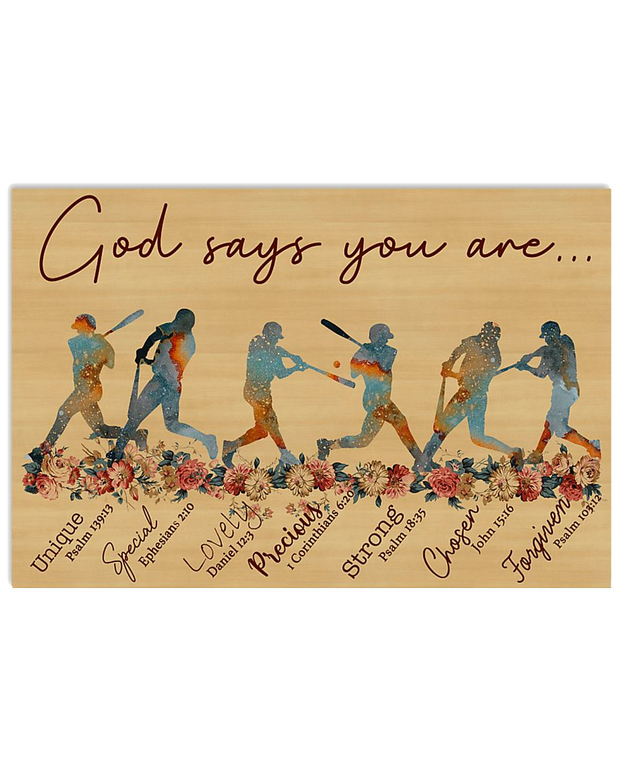 God says you are Nhg07 36x24 Poster