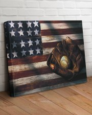 Baseball Flag Vintage 24x20 Gallery Wrapped Canvas Prints aos-canvas-pgw-24x20-lifestyle-front-08