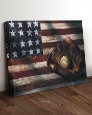 Baseball Flag Vintage 24x20 Gallery Wrapped Canvas Prints aos-canvas-pgw-24x20-lifestyle-front-11