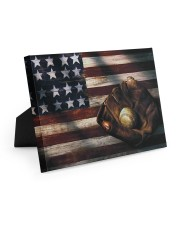 Baseball Flag Vintage 10x8 Easel-Back Gallery Wrapped Canvas thumbnail
