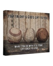 Your talent is God's gift Baseball Canvas Nhg07 24x20 Gallery Wrapped Canvas Prints front