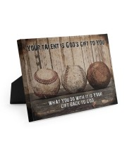 Your talent is God's gift Baseball Canvas Nhg07 10x8 Easel-Back Gallery Wrapped Canvas thumbnail