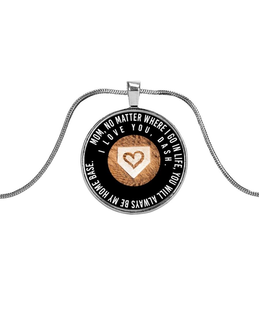 Customized Necklace - Dash Metallic Circle Necklace