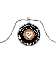 Customized Necklace - Dash Metallic Circle Necklace front