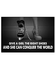 Give A Girl The Right Shoes Hockey Canvas Nhg07 Horizontal Poster tile