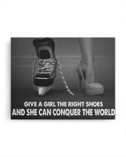 Give A Girl The Right Shoes Hockey Canvas Nhg07 14x11 Gallery Wrapped Canvas Prints aos-canvas-pgw-14x11-ghosted-front-02