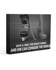 Give A Girl The Right Shoes Hockey Canvas Nhg07 14x11 Gallery Wrapped Canvas Prints front