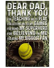 Thank you Dad Softball ver Nhg07 11x17 Poster front