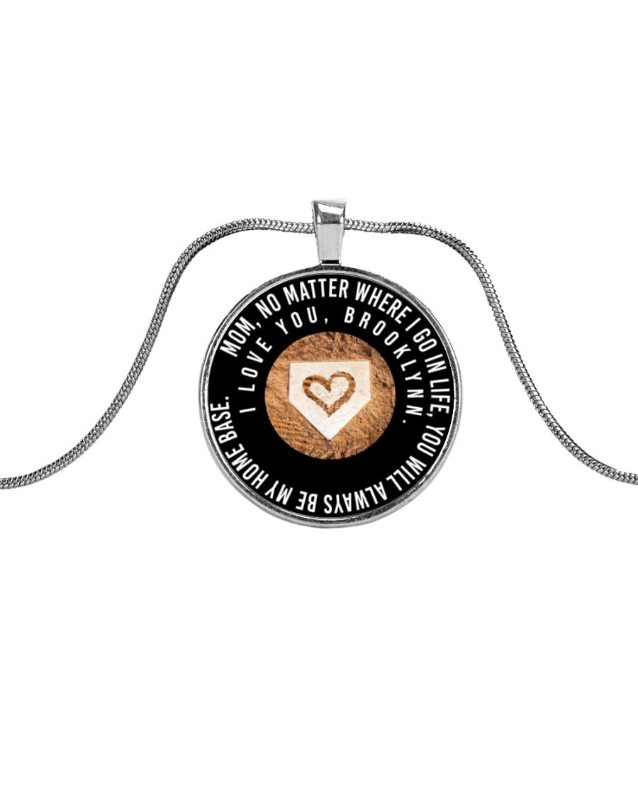 Customized Necklace - Brooklynn Metallic Circle Necklace