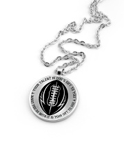 Your talent is God's gift to you Football Nhg07 Metallic Circle Necklace aos-necklace-circle-metallic-lifestyle-05