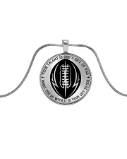 Your talent is God's gift to you Football Nhg07 Metallic Circle Necklace front