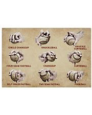 Baseball Pitching Grips 17x11 Poster front