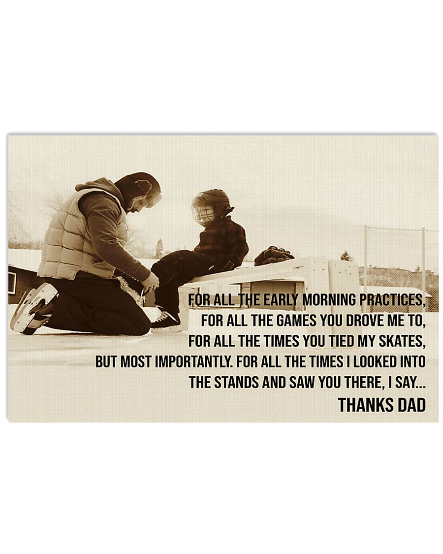 Thanks Dad Hockey  17x11 Poster