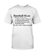 Baseball Mom Definition SUR Classic T-Shirt front