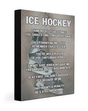 Ice Hockey 11x14 Gallery Wrapped Canvas Prints front