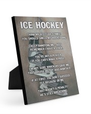 Ice Hockey 8x10 Easel-Back Gallery Wrapped Canvas thumbnail