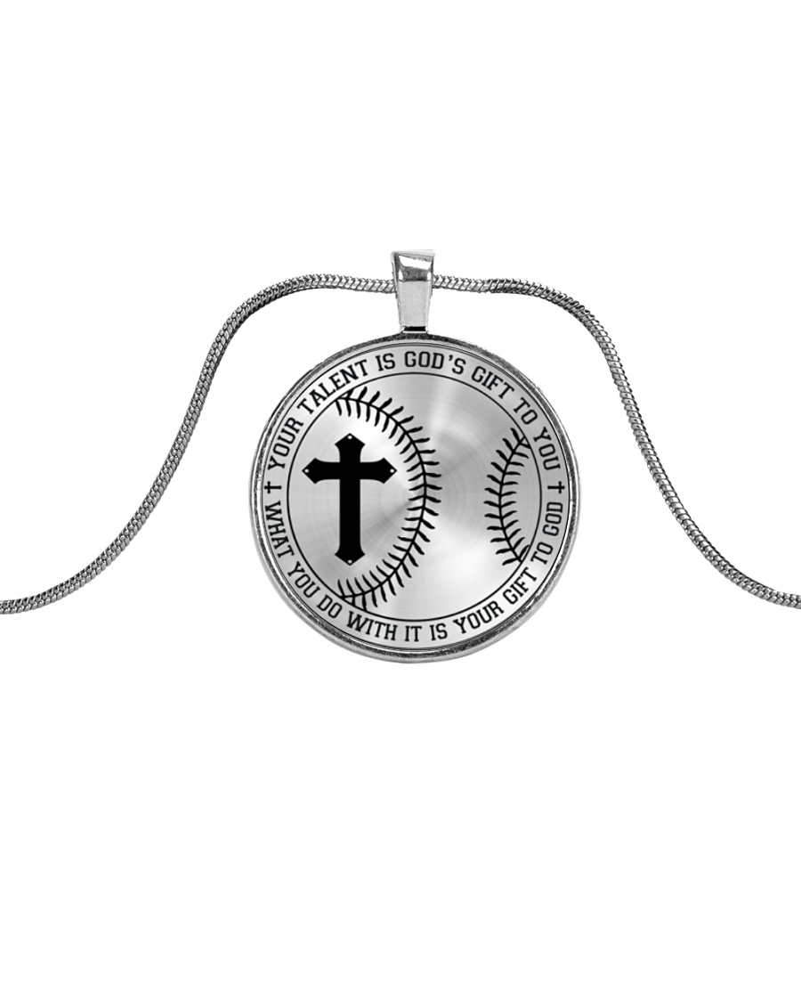 Your Talent Is God's Gift To You Nhg07 Metallic Circle Necklace