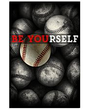 Be Yourself Baseball Poster 11x17 Poster front