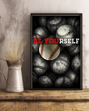 Be Yourself Baseball Poster 11x17 Poster lifestyle-poster-3
