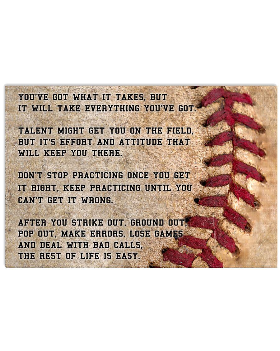 Motivational Baseball Nhg07 36x24 Poster
