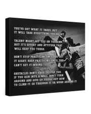 Motivational Hockey Canvas Nhg07 24x20 Gallery Wrapped Canvas Prints front