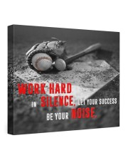 Let your Success Be Your Noise Baseball 24x20 Gallery Wrapped Canvas Prints front