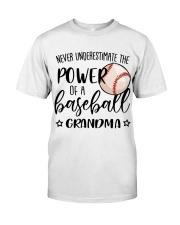 Baseball Underestimate Grandma SUR Classic T-Shirt front