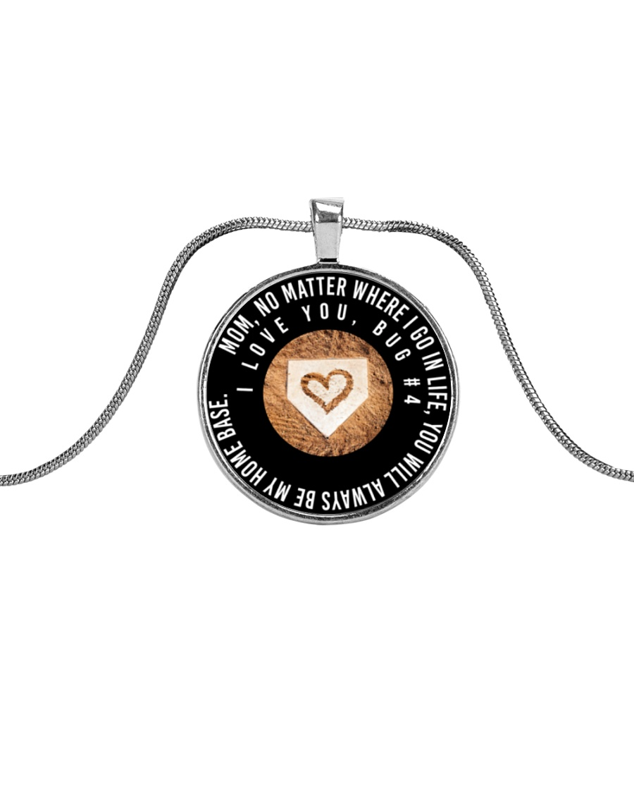 Customized Necklace - Bug  Metallic Circle Necklace