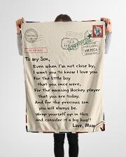 "Hockey Letter Blanket Small Fleece Blanket - 30"" x 40"" aos-coral-fleece-blanket-30x40-lifestyle-front-14"