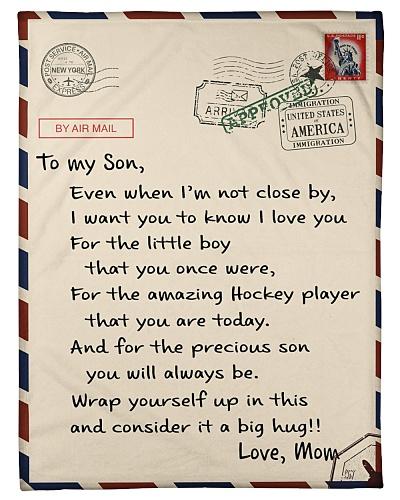 Hockey Letter Blanket