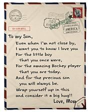 """Hockey Letter Blanket Small Fleece Blanket - 30"""" x 40"""" front"""