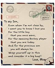 Hockey Letter Blanket Fleece Blanket tile