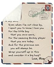 "Hockey Letter Blanket Sherpa Fleece Blanket - 50"" x 60"" thumbnail"