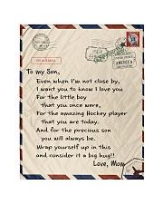 "Hockey Letter Blanket Quilt 40""x50"" - Baby thumbnail"