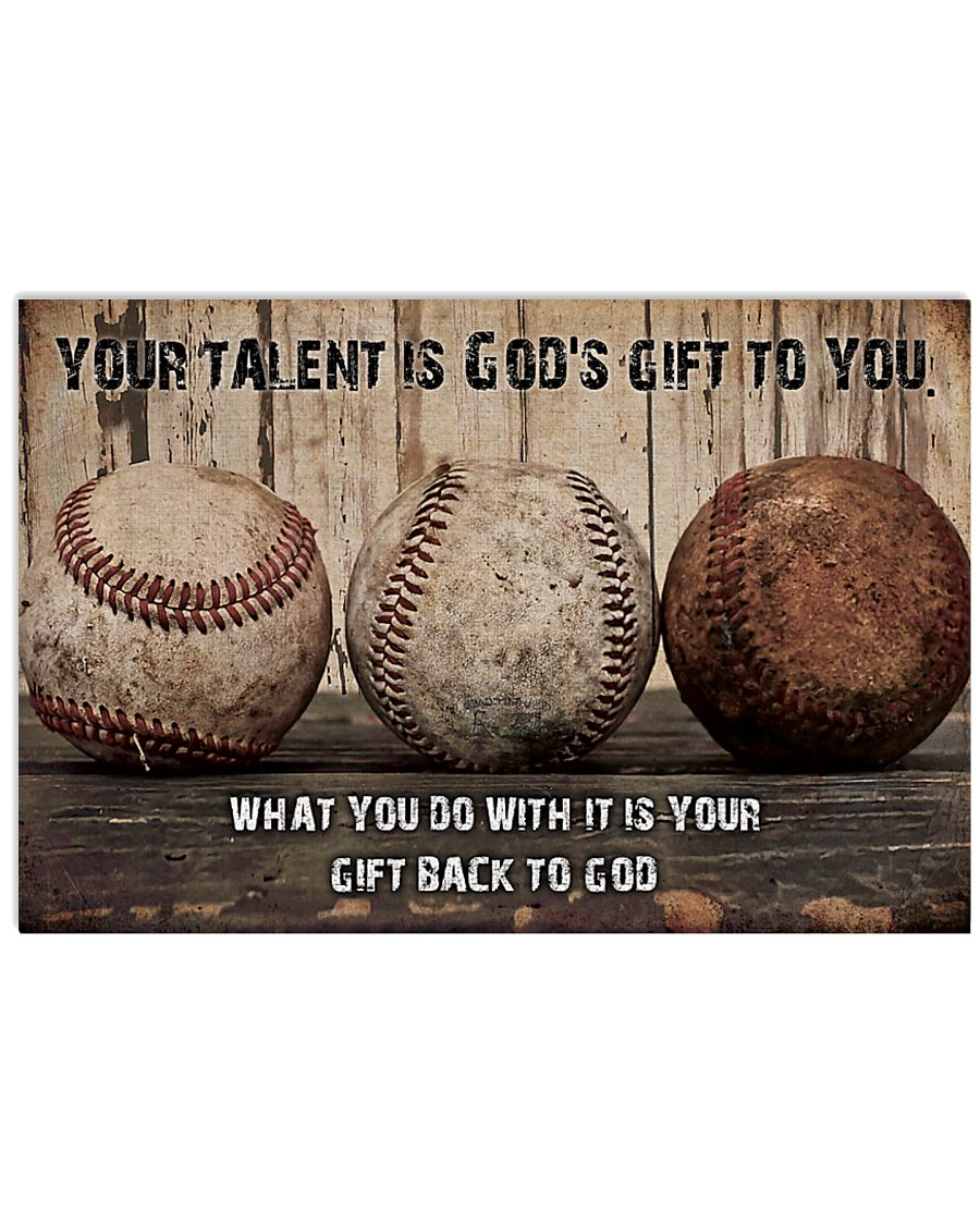 Your talent is God's gift to you ncl04 17x11 Poster
