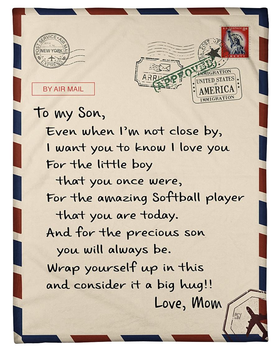 """Softball Letter Blanket Small Fleece Blanket - 30"""" x 40"""""""