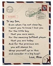 """Softball Letter Blanket Small Fleece Blanket - 30"""" x 40"""" front"""