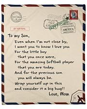 Softball Letter Blanket Fleece Blanket tile