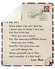 Softball Letter Blanket Sherpa Fleece Blanket tile