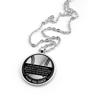 Thank You Coach Necklace Nhg07 Metallic Circle Necklace aos-necklace-circle-metallic-lifestyle-05
