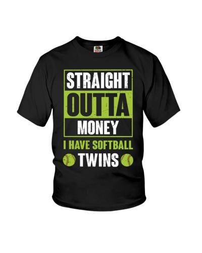 Straight Outta Money I Have Softball Twins
